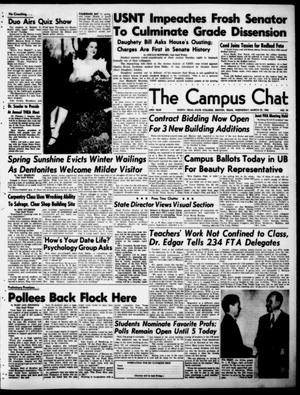 Primary view of object titled 'The Campus Chat (Denton, Tex.), Vol. 33, No. 39, Ed. 1 Wednesday, March 22, 1950'.