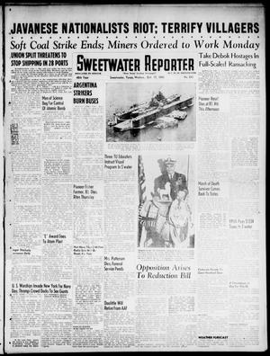 Primary view of object titled 'Sweetwater Reporter (Sweetwater, Tex.), Vol. 48, No. 245, Ed. 1 Wednesday, October 17, 1945'.