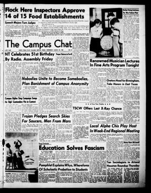Primary view of object titled 'The Campus Chat (Denton, Tex.), Vol. 33, No. 41, Ed. 1 Wednesday, March 29, 1950'.