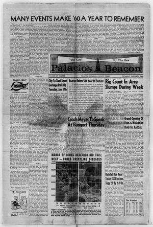 Primary view of object titled 'Palacios Beacon (Palacios, Tex.), Vol. 54, No. 1, Ed. 1 Thursday, January 5, 1961'.