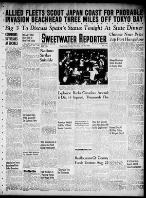 Primary view of object titled 'Sweetwater Reporter (Sweetwater, Tex.), Vol. 48, No. 171, Ed. 1 Thursday, July 19, 1945'.