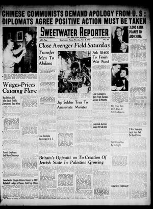 Primary view of object titled 'Sweetwater Reporter (Sweetwater, Tex.), Vol. 48, No. 264, Ed. 1 Thursday, November 8, 1945'.
