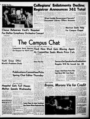 Primary view of object titled 'The Campus Chat (Denton, Tex.), Vol. 34, No. 26, Ed. 1 Wednesday, January 17, 1951'.