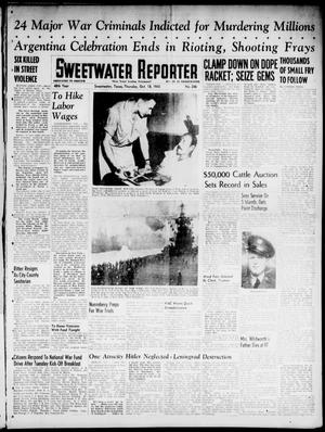 Primary view of object titled 'Sweetwater Reporter (Sweetwater, Tex.), Vol. 48, No. 246, Ed. 1 Thursday, October 18, 1945'.