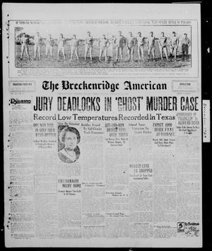 Primary view of object titled 'The Breckenridge American (Breckenridge, Tex.), Vol. 10, No. 18, Ed. 1, Thursday, December 19, 1929'.