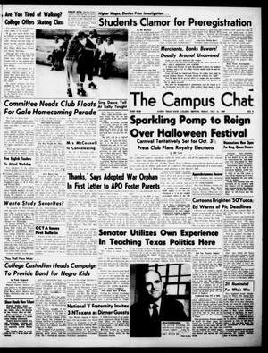 Primary view of object titled 'The Campus Chat (Denton, Tex.), Vol. 33, No. 9, Ed. 1 Friday, October 21, 1949'.