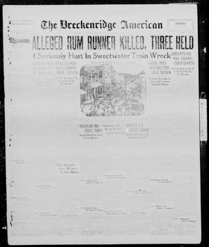 Primary view of object titled 'The Breckenridge American (Breckenridge, Tex.), Vol. 10, No. 23, Ed. 1, Thursday, December 26, 1929'.