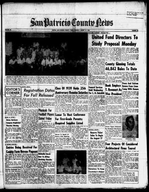 Primary view of object titled 'San Patricio County News (Sinton, Tex.), Vol. 56, No. 33, Ed. 1 Thursday, August 13, 1964'.