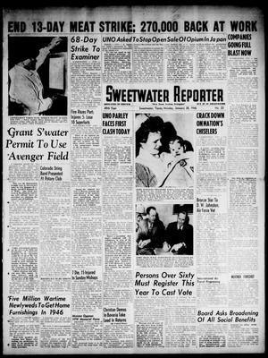 Primary view of object titled 'Sweetwater Reporter (Sweetwater, Tex.), Vol. 49, No. 23, Ed. 1 Monday, January 28, 1946'.