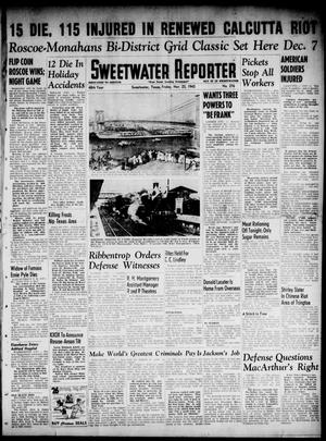 Primary view of object titled 'Sweetwater Reporter (Sweetwater, Tex.), Vol. 48, No. 276, Ed. 1 Friday, November 23, 1945'.