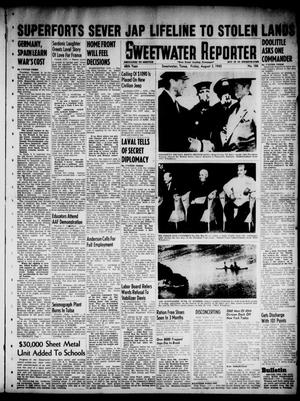 Primary view of object titled 'Sweetwater Reporter (Sweetwater, Tex.), Vol. 48, No. 184, Ed. 1 Friday, August 3, 1945'.