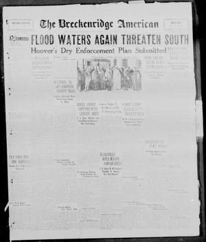 Primary view of object titled 'The Breckenridge American (Breckenridge, Tex.), Vol. 10, No. 37, Ed. 1, Monday, January 13, 1930'.