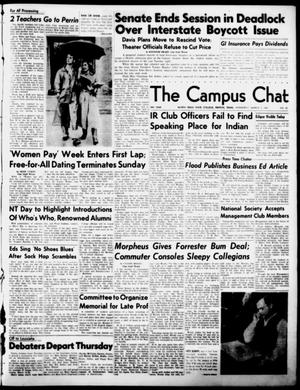 Primary view of object titled 'The Campus Chat (Denton, Tex.), Vol. 34, No. 35, Ed. 1 Wednesday, March 7, 1951'.