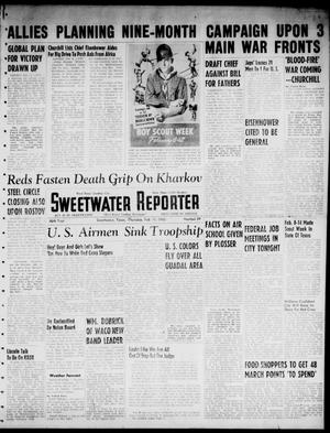 Primary view of object titled 'Sweetwater Reporter (Sweetwater, Tex.), Vol. 46, No. 39, Ed. 1 Thursday, February 11, 1943'.