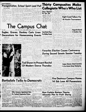 Primary view of object titled 'The Campus Chat (Denton, Tex.), Vol. 34, No. 15, Ed. 1 Wednesday, November 15, 1950'.