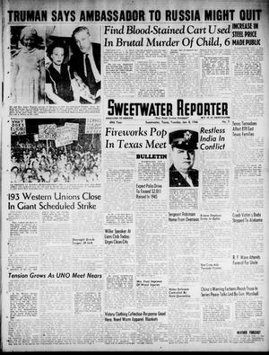 Primary view of object titled 'Sweetwater Reporter (Sweetwater, Tex.), Vol. 49, No. 7, Ed. 1 Tuesday, January 8, 1946'.