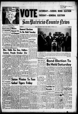Primary view of object titled 'San Patricio County News (Sinton, Tex.), Vol. 56, No. 44, Ed. 1 Thursday, October 29, 1964'.