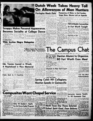 Primary view of object titled 'The Campus Chat (Denton, Tex.), Vol. 34, No. 36, Ed. 1 Friday, March 9, 1951'.