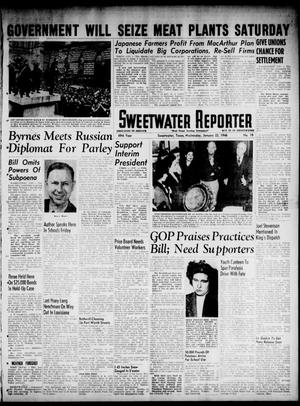 Primary view of object titled 'Sweetwater Reporter (Sweetwater, Tex.), Vol. 49, No. 19, Ed. 1 Wednesday, January 23, 1946'.