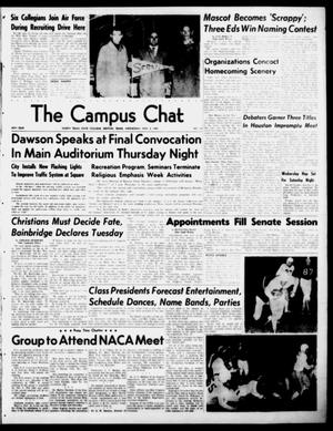 Primary view of object titled 'The Campus Chat (Denton, Tex.), Vol. 34, No. 13, Ed. 1 Wednesday, November 8, 1950'.