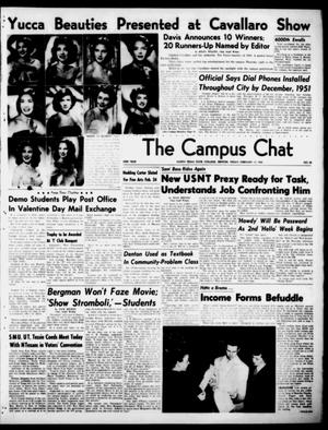 Primary view of object titled 'The Campus Chat (Denton, Tex.), Vol. 33, No. 30, Ed. 1 Friday, February 17, 1950'.