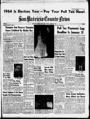 Primary view of object titled 'San Patricio County News (Sinton, Tex.), Vol. 56, No. 5, Ed. 1 Thursday, January 30, 1964'.