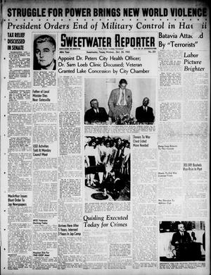 Primary view of object titled 'Sweetwater Reporter (Sweetwater, Tex.), Vol. 48, No. 251, Ed. 1 Wednesday, October 24, 1945'.