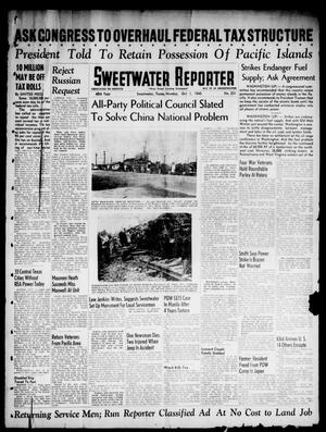 Primary view of object titled 'Sweetwater Reporter (Sweetwater, Tex.), Vol. 48, No. 231, Ed. 1 Monday, October 1, 1945'.