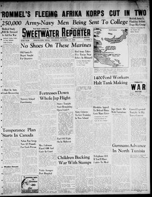 Primary view of object titled 'Sweetwater Reporter (Sweetwater, Tex.), Vol. 45, No. 5, Ed. 1 Thursday, December 17, 1942'.