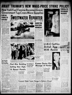 Primary view of object titled 'Sweetwater Reporter (Sweetwater, Tex.), Vol. 49, No. 32, Ed. 1 Thursday, February 7, 1946'.