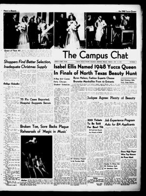 Primary view of object titled 'The Campus Chat (Denton, Tex.), Vol. 31, No. 11, Ed. 1 Friday, December 12, 1947'.