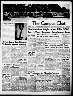 Primary view of object titled 'The Campus Chat (Denton, Tex.), Vol. 30, No. 29, Ed. 1 Friday, June 13, 1947'.