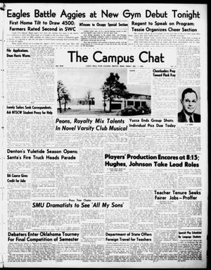 Primary view of object titled 'The Campus Chat (Denton, Tex.), Vol. 34, No. 18, Ed. 1 Friday, December 1, 1950'.
