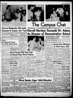 Primary view of object titled 'The Campus Chat (Denton, Tex.), Vol. 31, No. 29, Ed. 1 Friday, June 11, 1948'.