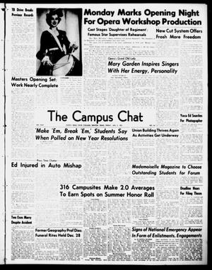 Primary view of object titled 'The Campus Chat (Denton, Tex.), Vol. 34, No. 23, Ed. 1 Friday, January 5, 1951'.