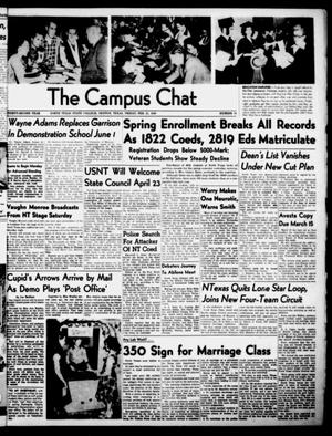 Primary view of object titled 'The Campus Chat (Denton, Tex.), Vol. 32, No. 16, Ed. 1 Friday, February 11, 1949'.