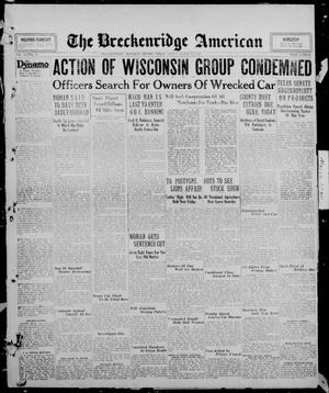 Primary view of object titled 'The Breckenridge American (Breckenridge, Tex.), Vol. 10, No. 89, Ed. 1, Friday, March 14, 1930'.