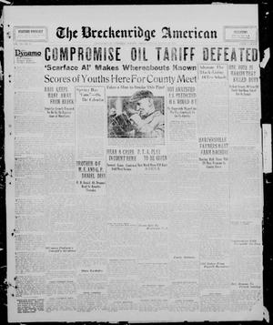 Primary view of object titled 'The Breckenridge American (Breckenridge, Tex.), Vol. 10, No. 95, Ed. 1, Friday, March 21, 1930'.