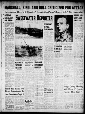 Primary view of object titled 'Sweetwater Reporter (Sweetwater, Tex.), Vol. 48, No. 204, Ed. 1 Wednesday, August 29, 1945'.