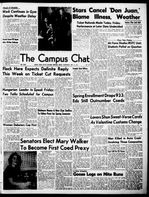 Primary view of object titled 'The Campus Chat (Denton, Tex.), Vol. 34, No. 29, Ed. 1 Wednesday, February 14, 1951'.