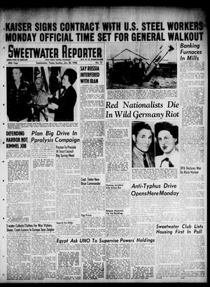 Primary view of object titled 'Sweetwater Reporter (Sweetwater, Tex.), Vol. 49, No. 17, Ed. 1 Sunday, January 20, 1946'.