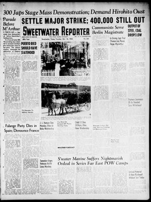 Primary view of object titled 'Sweetwater Reporter (Sweetwater, Tex.), Vol. 48, No. 244, Ed. 1 Tuesday, October 16, 1945'.