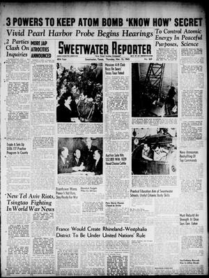Primary view of object titled 'Sweetwater Reporter (Sweetwater, Tex.), Vol. 48, No. 269, Ed. 1 Thursday, November 15, 1945'.