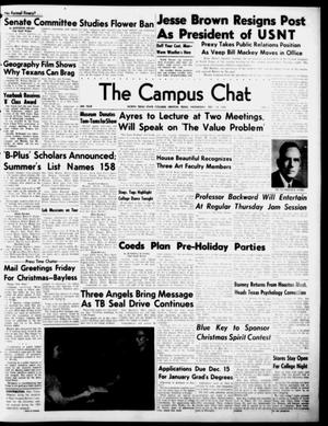 Primary view of object titled 'The Campus Chat (Denton, Tex.), Vol. 34, No. 21, Ed. 1 Wednesday, December 13, 1950'.