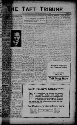 Primary view of object titled 'The Taft Tribune (Taft, Tex.), Vol. 3, No. 34, Ed. 1 Thursday, December 27, 1923'.