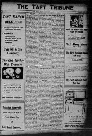Primary view of object titled 'The Taft Tribune (Taft, Tex.), Vol. 5, No. 29, Ed. 1 Thursday, November 12, 1925'.