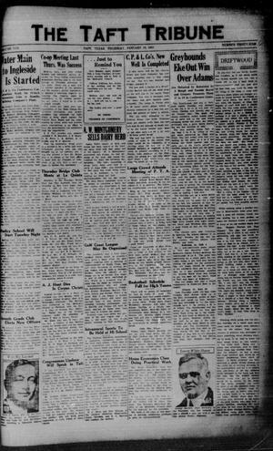 Primary view of object titled 'The Taft Tribune (Taft, Tex.), Vol. 10, No. 36, Ed. 1 Thursday, January 15, 1931'.