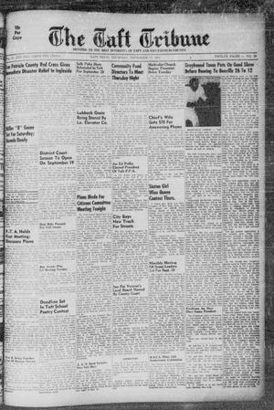 Primary view of object titled 'The Taft Tribune (Taft, Tex.), Vol. 33, No. 28, Ed. 1 Thursday, September 15, 1955'.