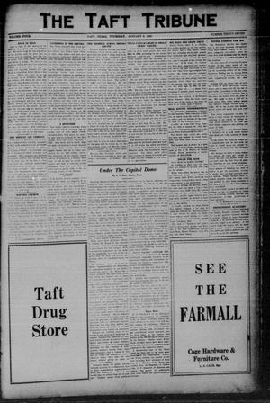 Primary view of object titled 'The Taft Tribune (Taft, Tex.), Vol. 4, No. 37, Ed. 1 Thursday, January 8, 1925'.