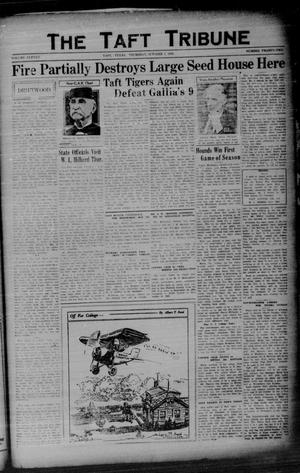 Primary view of object titled 'The Taft Tribune (Taft, Tex.), Vol. 11, No. 22, Ed. 1 Thursday, October 1, 1931'.